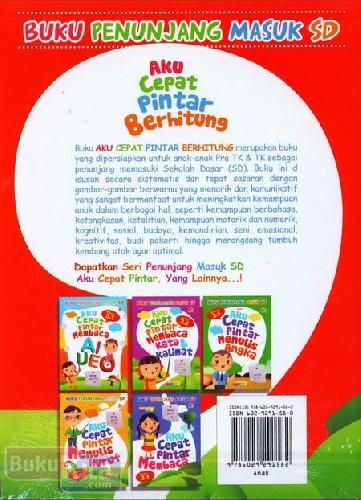 Cover Belakang Buku Aku Cepat Pintar Berhitung (untuk Pra TK & TK) - Full Color