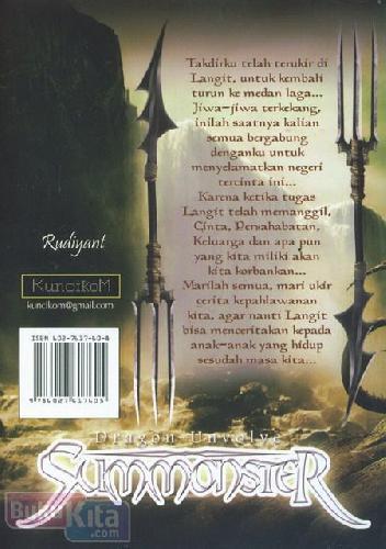 Cover Belakang Buku Dragon Unvolve Summonster