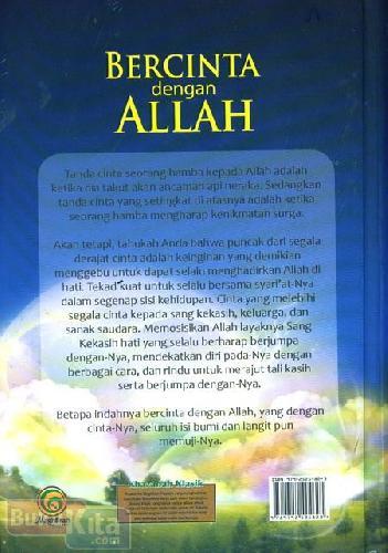 Cover Belakang Buku Bercinta dengan Allah