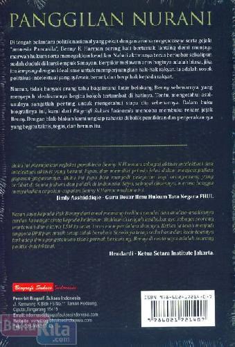 Cover Belakang Buku Panggilan Nurani