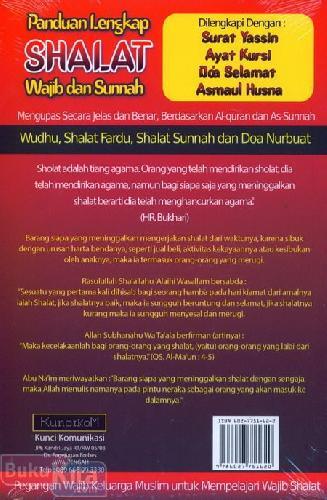 Cover Belakang Buku Panduan Lengkap Shalat Wajib dan Sunnah