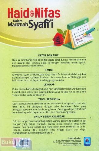 Cover Belakang Buku Haid dan Nifas Dalam Mazhab Syafii