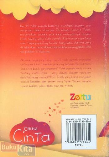 Cover Belakang Buku Cerita Cinta