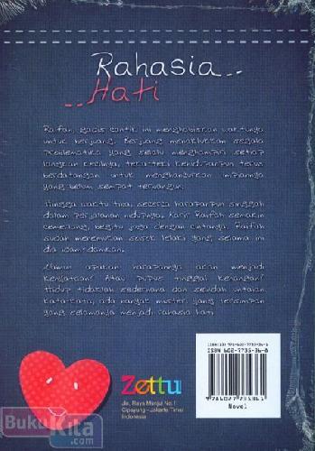 Cover Belakang Buku Rahasia Hati