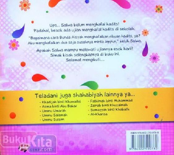Cover Belakang Buku Seri Shahabiyah Aisyah Penghafal Hadits