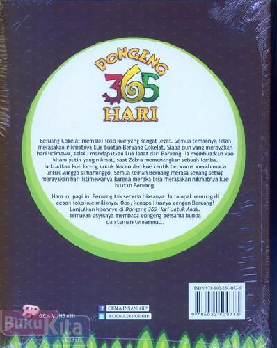 Cover Belakang Buku Dongeng 365 Hari (special for kids)