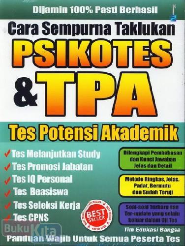 Cover Buku Cara Sempurna Taklukkan ikotes & TPA