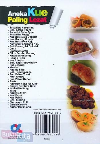 Cover Belakang Buku Aneka Kue Paling Lezat (full color)