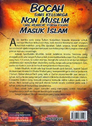 Cover Belakang Buku Bocah dari Keluarga Non Muslim Yang Membuat Ribuan Orang Masuk Islam