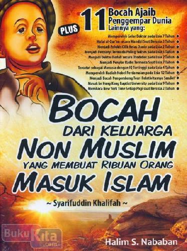 Cover Buku Bocah dari Keluarga Non Muslim Yang Membuat Ribuan Orang Masuk Islam