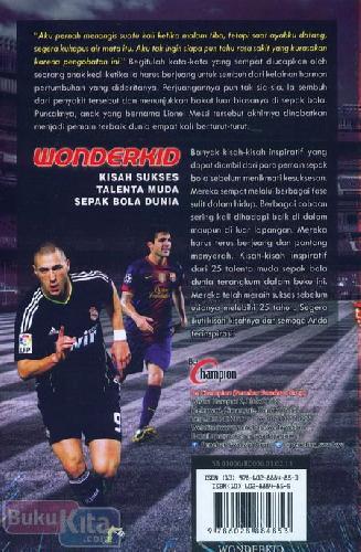 Cover Belakang Buku Wonderkid : Kisah Sukses Talenta Muda Sepak Bola Dunia