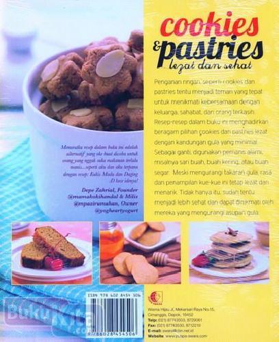 Cover Belakang Buku Cookies & Pastries Lezat dan Sehat