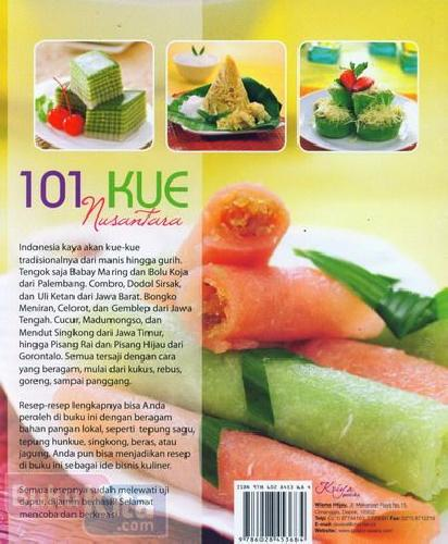 Cover Belakang Buku 101 Kue Nusantara