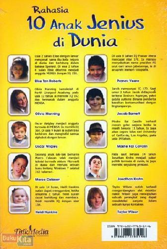 Cover Belakang Buku Rahasia 10 Anak Jenius di Dunia