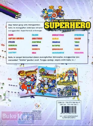Cover Belakang Buku Aku Jago Menggambar Superhero Seri 2
