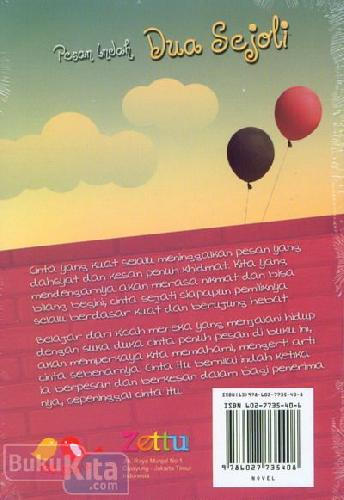 Cover Belakang Buku Pesan Indah Dua Sejoli : Pesan Abadi Datangnya dari Cinta Sejati