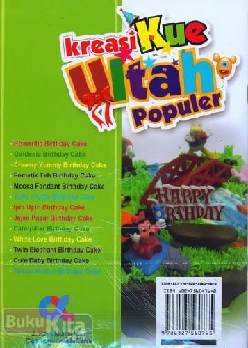 Cover Belakang Buku Kreasi Kue Ultah Populer (full color)