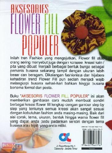 Cover Belakang Buku Aksesoris Flower Fill Populer