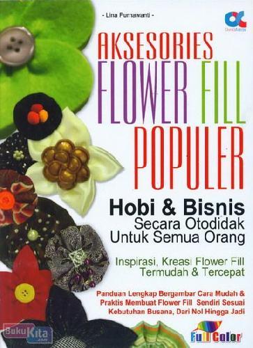 Cover Buku Aksesoris Flower Fill Populer