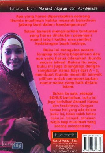 Cover Belakang Buku Persiapan Ibunda Menyambut Kedatangan Bayi Islami