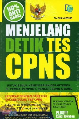 Cover Buku Menjelang Detik Tes CPNS