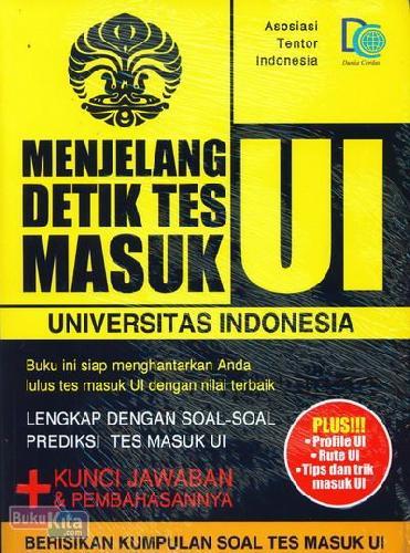 Cover Buku Menjelang Detik Tes Masuk Universitas Indonesia