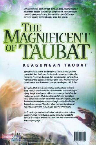Cover The Magnificent of Taubat - Keagungan Taubat