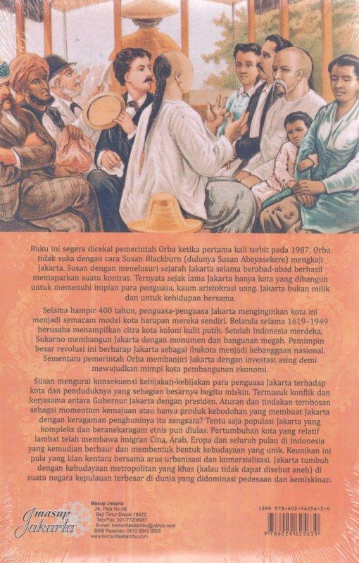 Cover Belakang Buku Jakarta Sejarah 400 tahun