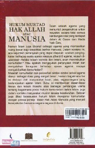 Cover Belakang Buku Hukum Murtad Hak Allah atau Manusia