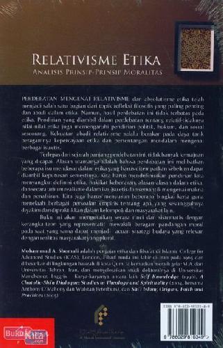 Cover Belakang Buku Relativisme Etika : Analisis Prinsip-Prinsip Moralitas