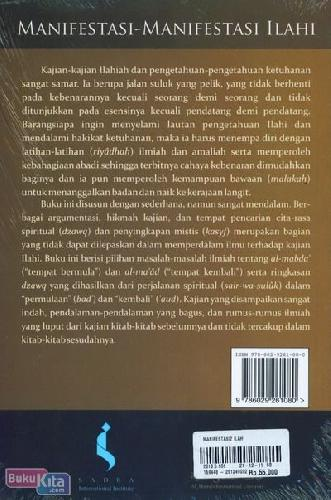 Cover Belakang Buku Manifestasi-Manifestasi Ilahi