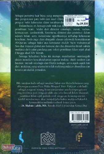 Cover Belakang Buku Menguak Tabir Mujizat : Membongkar Rahasia Peristiwa Luar Biasa Secara Ilmiah