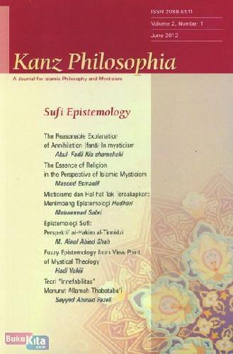 Cover Buku Kanz Philosophia - Sufi Epistemologi