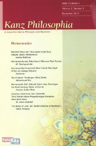 Cover Buku Kanz Philosophia - Hermeneutics
