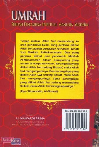 Cover Belakang Buku Umrah : Sebuah Fenomena Spiritual Manusia Modern
