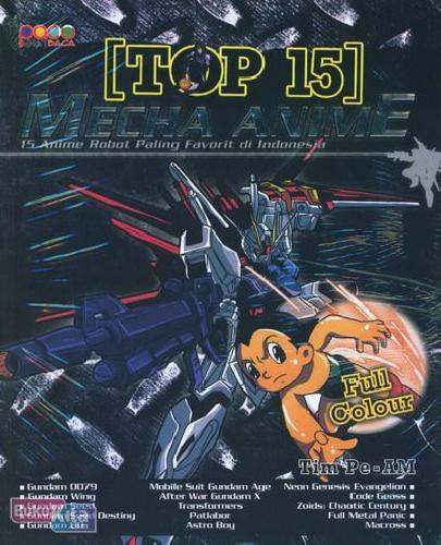 Cover Buku Top 15 Mecha Anime (Full Color)