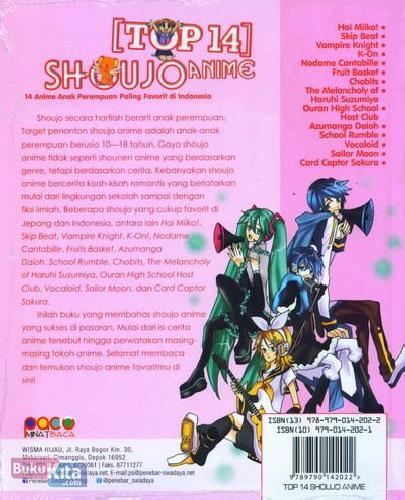 Cover Belakang Buku Top 14 Shoujo Anime
