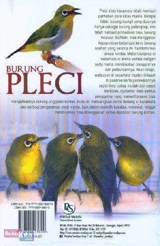 Cover Belakang Buku Burung Pleci Si Kacamata Primadona Burung Ocehan