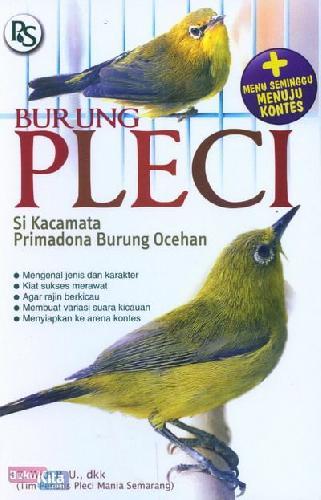 Cover Buku Burung Pleci Si Kacamata Primadona Burung Ocehan