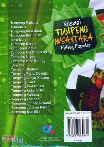 Cover Belakang Buku Kreasi Tumpeng Nusantara Paling Populer (Full Color)
