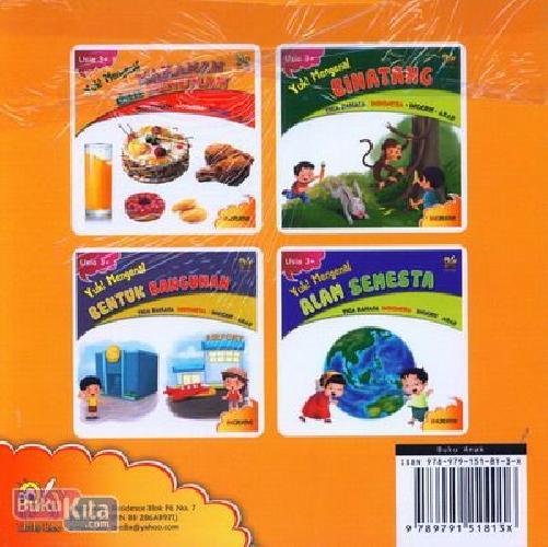Cover Belakang Buku Yuk Mengenal Makanan dan Minuman (Tiga Bahasa Indonesia-Inggris-Arab)