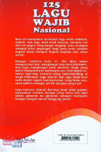 Cover Belakang Buku 125 Lagu Wajib Nasional