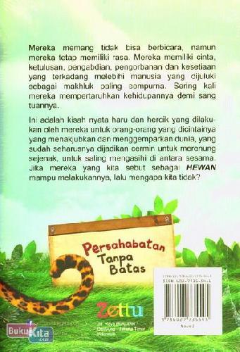 Cover Belakang Buku Persahabatan Tanpa Batas