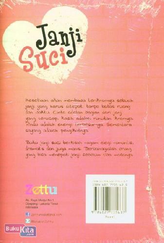 Cover Belakang Buku Janji Suci