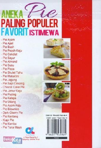 Cover Belakang Buku Aneka Pie Paling Populer Favorit Istimewa (full color)