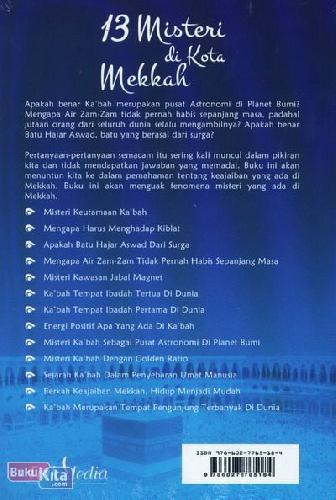 Cover Belakang Buku 13 Misteri di Kota Mekkah