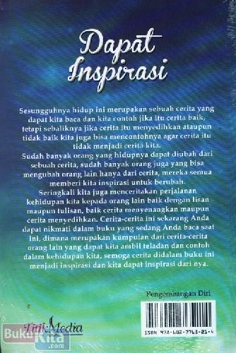 Cover Belakang Buku Dapat Inspirasi