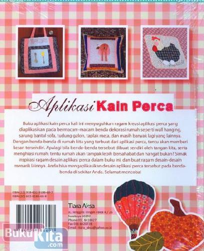 Cover Belakang Buku APLIKASI KAIN PERCA Ragam Desain Aplikasi Kain Perca untuk Dekorasi Rumah