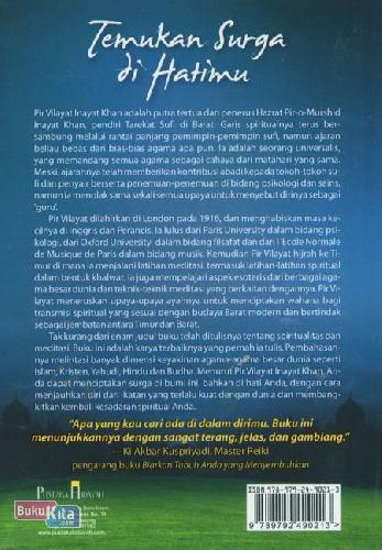 Cover Belakang Buku Temukan Surga di Hatimu