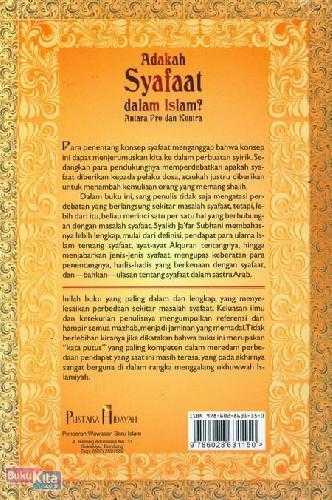 Cover Belakang Buku Adakah Syafaat dalam Islam? Antara Pro dan Kontra
